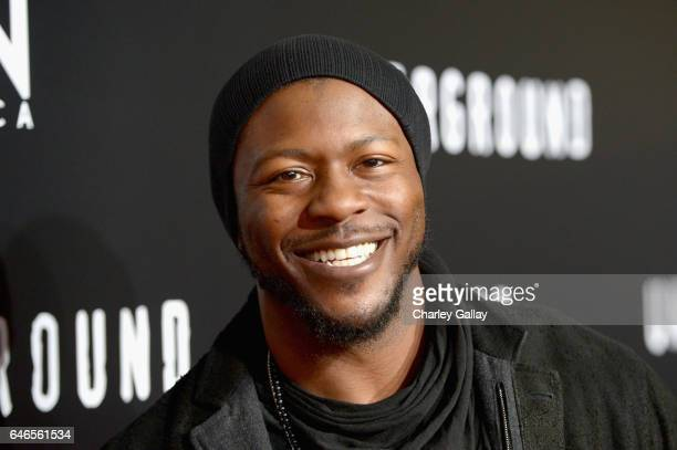 Actor Edwin Hodge attends WGN America's Underground Season Two Premiere Screening at Regency Village Theatre on March 1 2017 in Westwood California