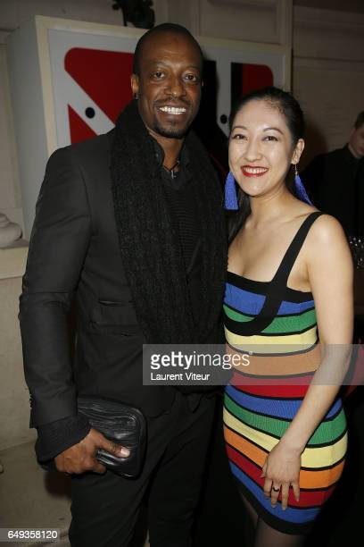 Actor Eebra Toore and Actress Mi Kwan Lock attend Dessiner L'Or et L'Argent Odiot Orfevre Exhibition Launch at Musee Des Arts Decoratifs on March 7...