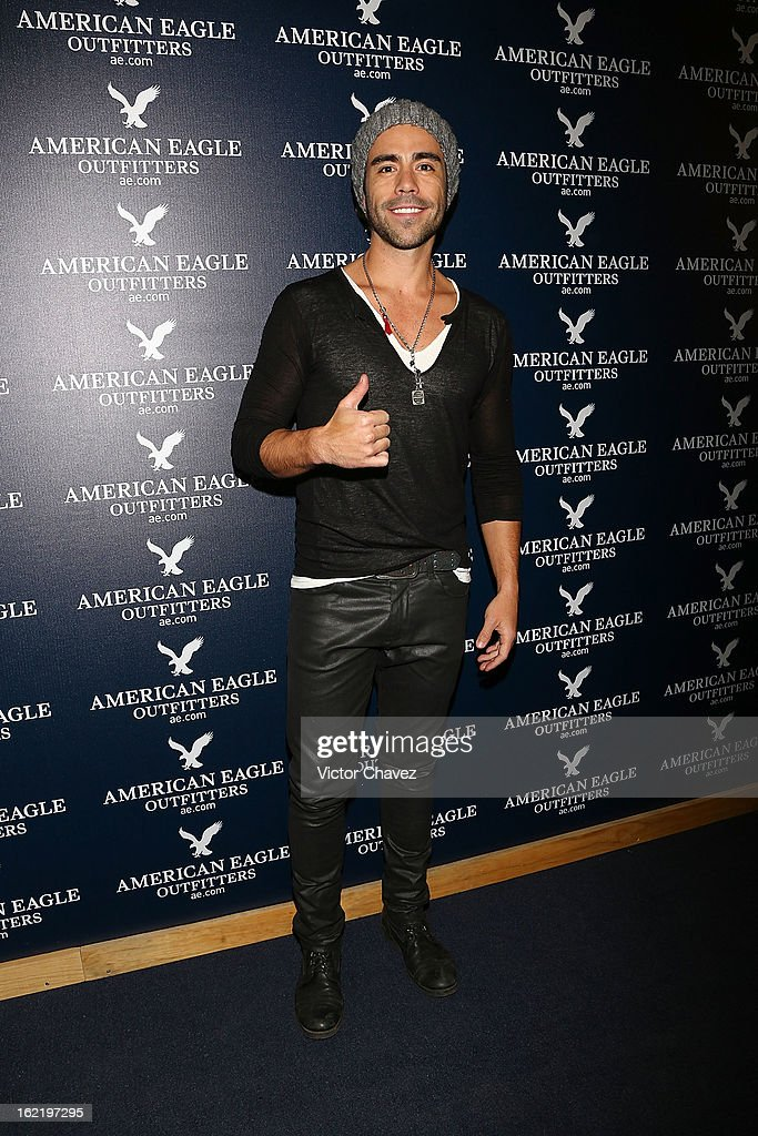 Actor Efraín Berry attends the opening of the American Eagle Mexico City store at Centro Comercial Perisur on February 19, 2013 in Mexico City, Mexico.
