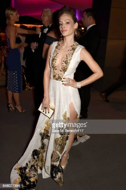 Actor Efrat Dor attends the 2017 Vanity Fair Oscar Party hosted by Graydon Carter at Wallis Annenberg Center for the Performing Arts on February 26...
