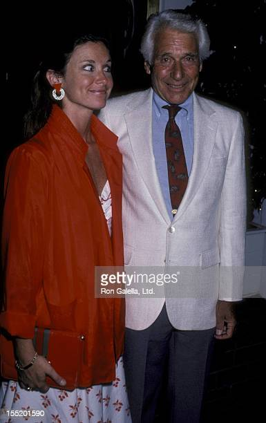 Actor Efrem Zimbalist Jr and actress Stephanie Zimablist sighted on August 17 1986 at Chasen's Restaurant in Beverly Hills California