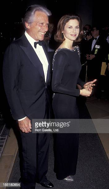 Actor Efrem Zimbalist Jr and actress Stephanie Zimbalist attend 48th Annual Golden Globe Awards on January 19 1991 at the Beverly Hilton Hotel in...