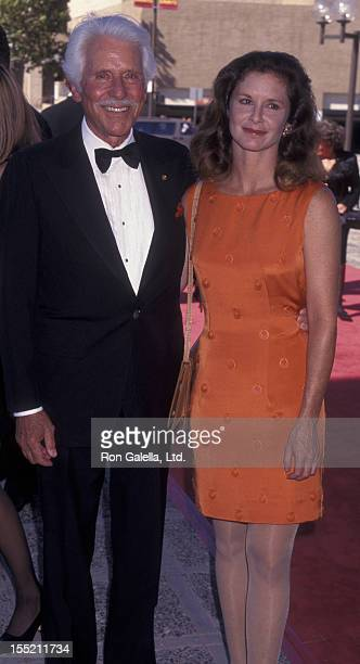 Actor Efrem Zimbalist Jr and actress Stephanie Zimbalist attend 49th Annual Creative Arts Emmy Awards on September 7 1997 at the Pasadena Civic...