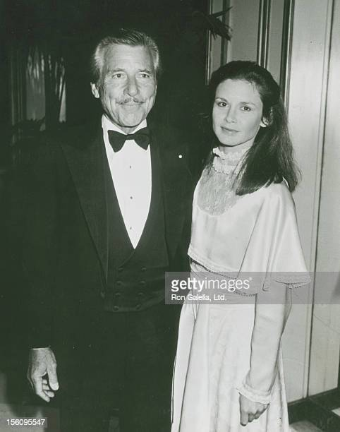 Actor Efrem Zimbalist Jr and actress Stephanie Zimbalist being photographed on April 1 1983 at Chasen's Restaurant in Beverly Hills California
