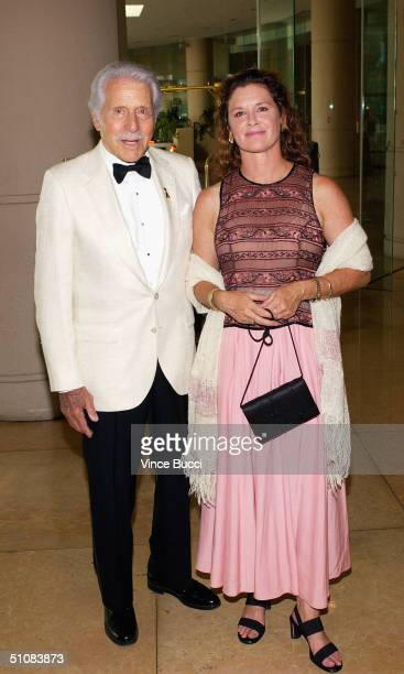 Actor Efrem Zimbalist Jr and daughter actress Stephanie Zimbalist attend the City of Hope's National Convention closing night gala on July 19 2004 at...