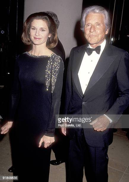 Actor Efrem Zimbalist Jr and daughter Stephanie Zimbalist attend the 48th Annual Golden Globe Awards on January 19 1991 at Beverly Hilton Hotel in...