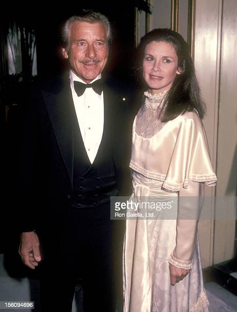 Actor Efrem Zimbalist Jr and daughter Stephanie Zimbalist on April 1 1983 sighting at Chasen's Restaurant in Beverly Hills California
