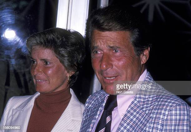 Actor Efrem Zimbalist Jr and wife Stephanie Spaulding attend the Geraldine Fitzgerald OneWoman Show Opening Night Performance on March 8 1978 at...