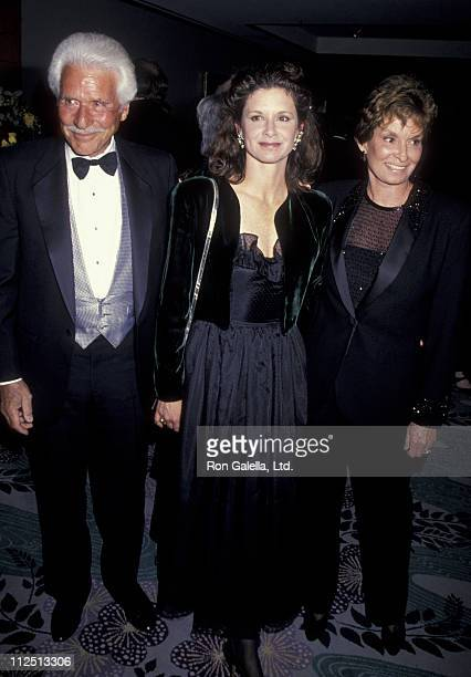 Actor Efrem Zimbalist Jr wife and actress Stephanie Zimbalist attend 50th Wedding anniversary Party for Charlton and Lydia Heston on March 18 1994 at...