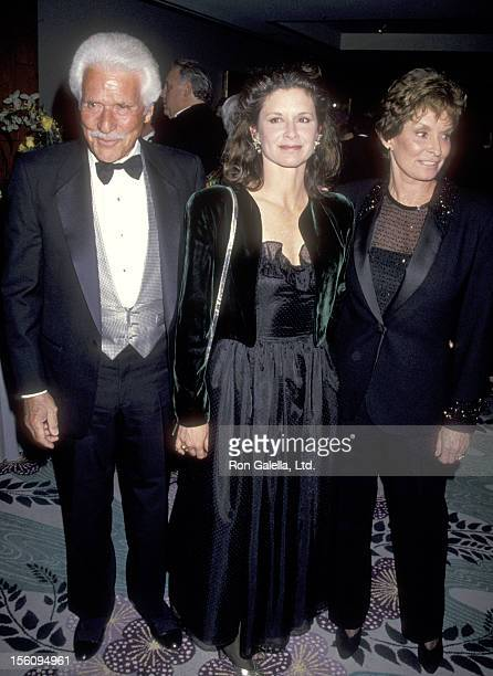 Actor Efrem Zimbalist Jr wife Stephanie Spaulding and daughter Actress Stephanie Zimbalist attend the 50th Wedding Anniversary Celebration for...