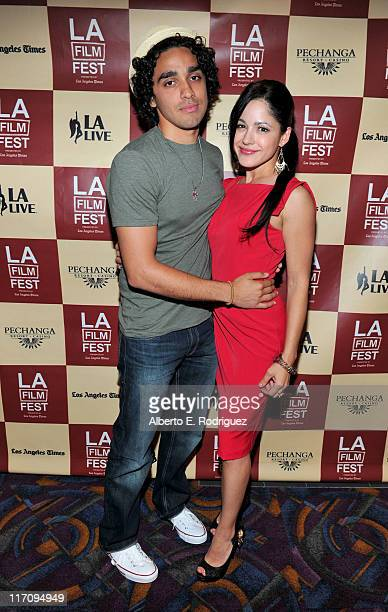 Actor EJ Bonilla and actress Veronica DiazCarranza attend the Mamitas Q A during the 2011 Los Angeles Film Festival held at Regal Cinemas LA LIVE on...