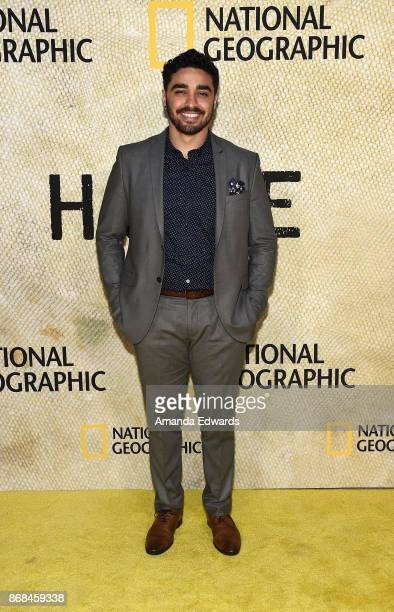 Actor EJ Bonilla arrives at the premiere of National Geographic's 'The Long Road Home' at Royce Hall on October 30 2017 in Los Angeles California