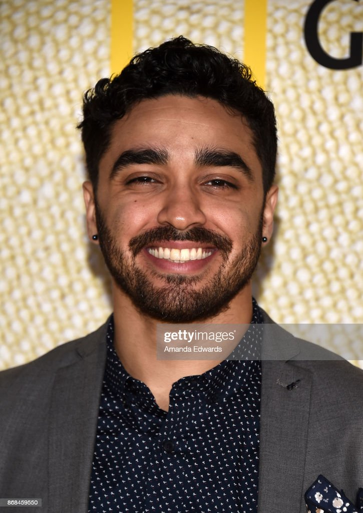 Actor E.J. Bonilla arrives at the premiere of National Geographic's 'The Long Road Home' at Royce Hall on October 30, 2017 in Los Angeles, California.