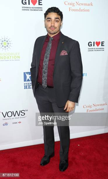 Actor EJ Bonilla attends the 11th Annual Stand Up for Heroes at The Theater at Madison Square Garden on November 7 2017 in New York City
