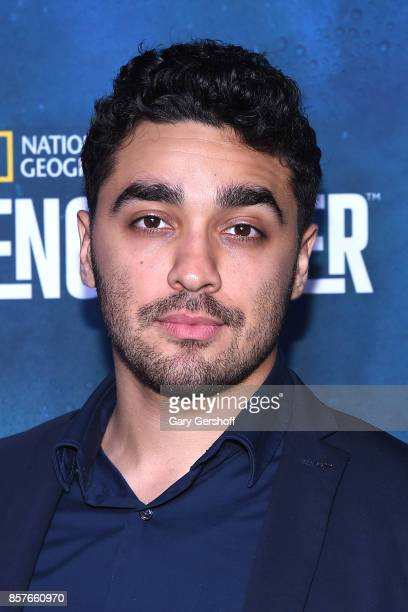 Actor EJ Bonilla attends the National Geographic Encounter Blue Carpet VIP preview celebration on October 4 2017 in New York City