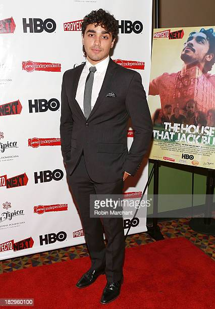 Actor EJ Bonilla attends the premiere of the 'The House That Jack Built' at AMC Empire 25 theater on October 2 2013 in New York City
