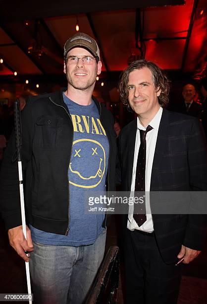 Actor EJ Scott and Director/Writer/Producer Brett Morgen attend HBO's Kurt Cobain Montage Of Heck Los Angeles Premiere after party at the Sadie...