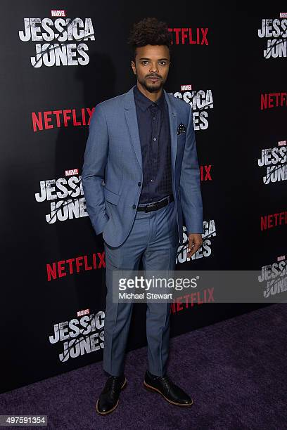 Actor Eka Darville attends the 'Jessica Jones' series premiere at Regal EWalk on November 17 2015 in New York City