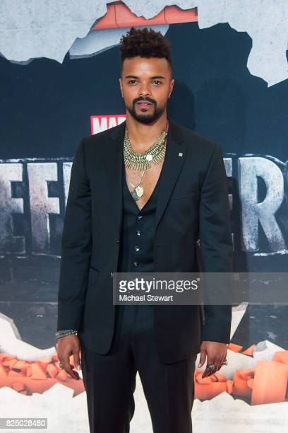 Actor Eka Darville attends the 'Marvel's The Defenders' New York premiere at Tribeca Performing Arts Center on July 31, 2017 in New York City.