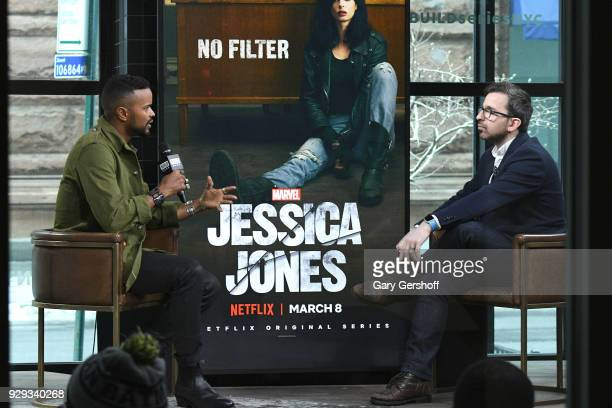 Actor Eka Darville visits Build Series with moderator Matt Forte to discuss the series Jessica Jones at Build Studio on March 8 2018 in New York City