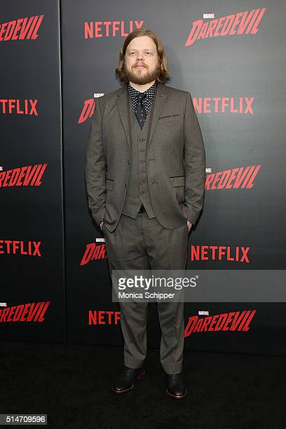 """Actor Elden Henson attends the """"Daredevil"""" Season 2 Premiere at AMC Loews Lincoln Square 13 theater on March 10, 2016 in New York City."""
