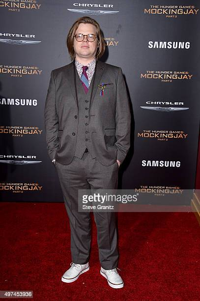 """Actor Elden Henson attends the premiere of Lionsgate's """"The Hunger Games: Mockingjay - Part 2"""" at Microsoft Theater on November 16, 2015 in Los..."""