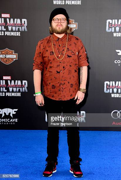"""Actor Elden Henson attends the premiere of Marvel's """"Captain America: Civil War"""" at Dolby Theatre on April 12, 2016 in Los Angeles, California."""