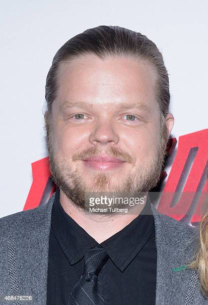 """Actor Elden Henson attends the premiere of Netflix's """"Marvel's Daredevil"""" at Regal Cinemas L.A. Live on April 2, 2015 in Los Angeles, California."""