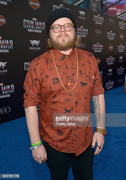 """Actor Elden Henson attends The World Premiere of Marvel's """"Captain America: Civil War"""" at Dolby Theatre on April 12, 2016 in Los Angeles, California."""