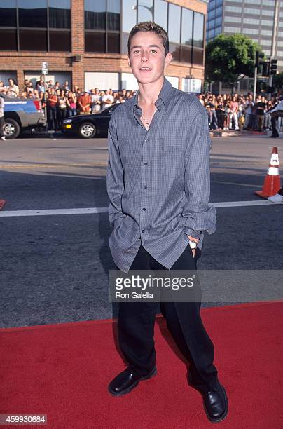 Actor Eli Marienthal attends the 'American Pie 2' Westwood Premiere on August 6 2001 at the Mann National Theatre in Westwood California