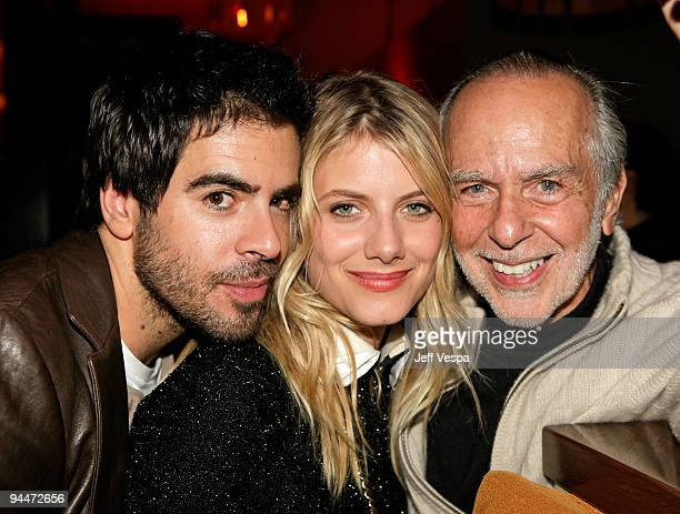 Actor Eli Roth actress Melanie Laurent and Dr Sheldon Roth attend the after party for the Inglourious Basterds BluRay and DVD launch held at Grace on...