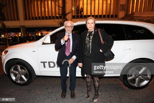"""Actor Eli Wallach arrives in the Audi Q7 TDI clean diesel to the """"New York, I Love You"""" Premiere at the Ziegfeld Theatre on October 14, 2009 in New..."""