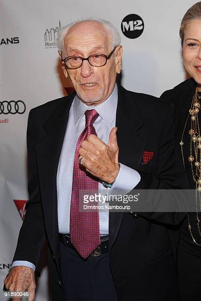 """Actor Eli Wallach attends the premiere of """"New York, I Love You"""" at the Ziegfeld Theatre on October 14, 2009 in New York City."""