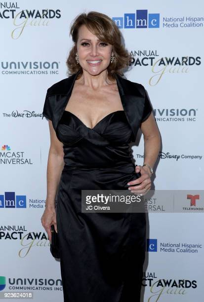 Actor Eliana Alexander attends the 21st Annual National Hispanic Media Coalition Impact Awards Gala at Regent Beverly Wilshire Hotel on February 23...