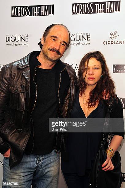 Actor Elias Koteas and Amy Cruickshank attend the 'Across The Wall' New York screening at Cipriani Wall Street on November 17 2009 in New York City