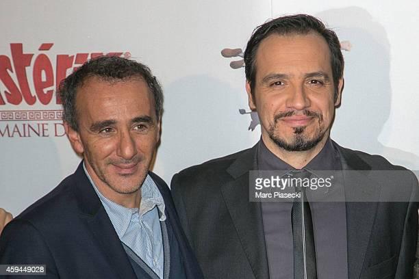 Actor Elie Semoun and director Alexandre Astier attend the 'Asterix Le Domaine des Dieux' Premiere at Le Grand Rex on November 23 2014 in Paris France