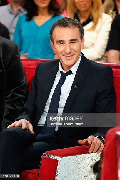 Actor Elie Semoun promotes 'Le Placard' play representation at Theatre des Nouveautes during 'Vivement Dimanche' French TV show at Pavillon Gabriel...