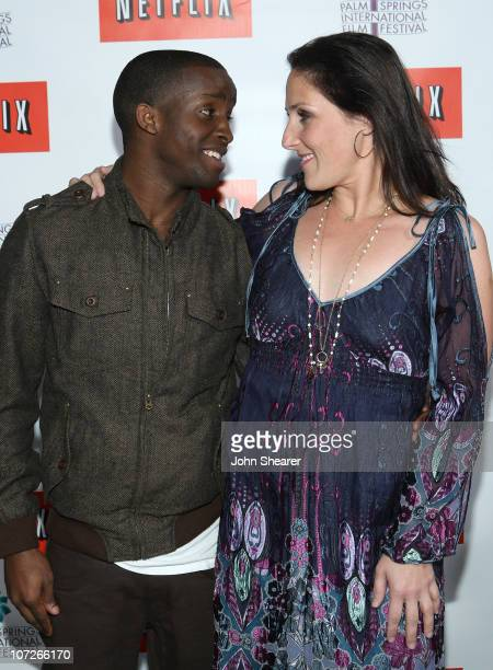 Actor Elijah Kelley and actress Ricki Lake attends the Netflix sing along screening of Hairspray in Sunrise Park on January 4 2008 in Palm Springs...