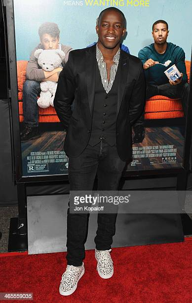 Actor Elijah Kelley arrives at the Los Angeles Premiere 'That Awkward Moment' at Regal Cinemas LA Live on January 27 2014 in Los Angeles California