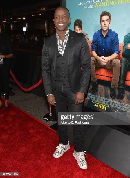 Actor Elijah Kelley arrives to the premiere of Focus Features' That Awkward Moment at Regal Cinemas LA Live on January 27 2014 in Los Angeles...