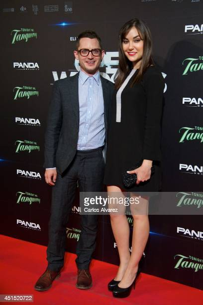 Actor Elijah Wood and actress Sasha Grey attend the Open Windows premiere at the Capitol cinema on June 30 2014 in Madrid Spain