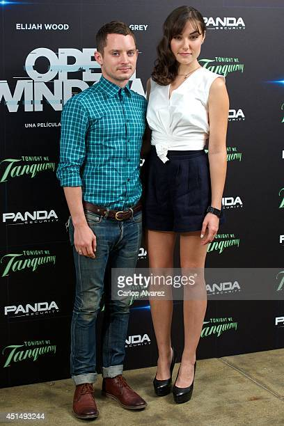 Actor Elijah Wood and actress Sasha Grey attend the Open Windows photocall on June 30 2014 in Madrid Spain