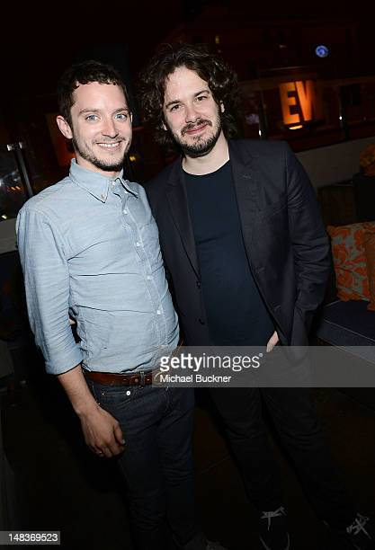 Actor Elijah Wood and director Edgar Wright attend Entertainment Weekly's 6th Annual ComicCon Celebration sponsored by Just Dance 4 held at the Hard...