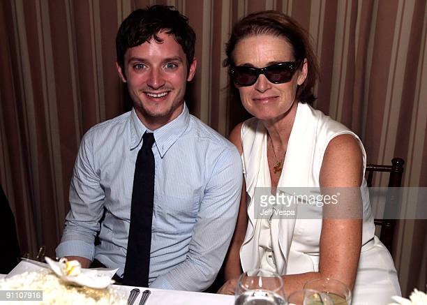 Actor Elijah Wood and Lisa Love attend The Art of Elysium HEAVEN Gala Committee Dinner hosted by Gilt Groupe at Sunset Tower on September 23 2009 in...