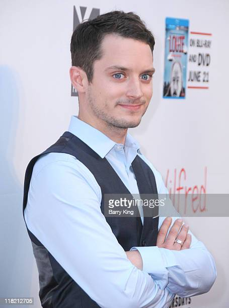 Actor Elijah Wood arrives at FX Network premiere of Wilfred and season two launch of Louie at ArcLight Hollywood on June 20 2011 in Hollywood...