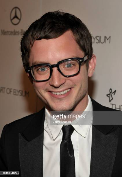 Actor Elijah Wood arrives at the 2011 Art Of Elysium Heaven Gala held at the California Science Center on January 15 2011 in Los Angeles California
