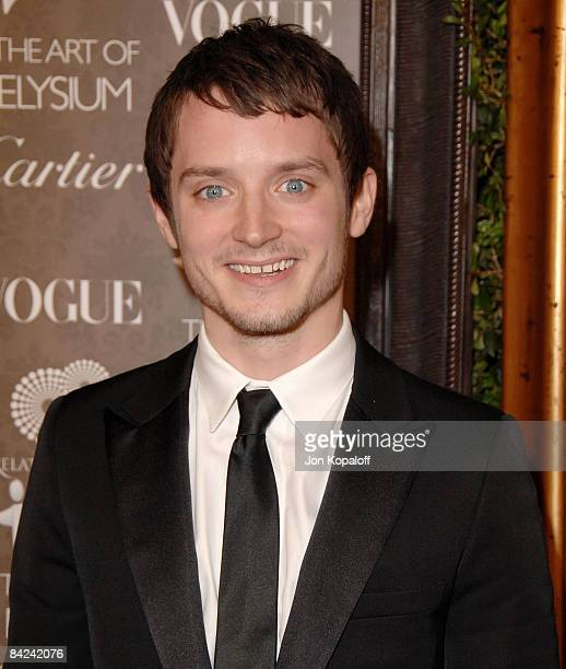 Actor Elijah Wood arrives at the Art of Elysium's 2nd Annual Black Tie Charity Gala Heaven at Vibiana on January 10 2009 in Los Angeles California
