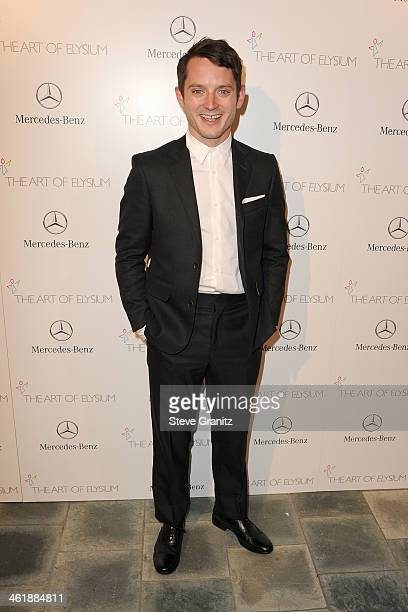 Actor Elijah Wood arrives at The Art of Elysium's 7th Annual HEAVEN Gala presented by Mercedes-Benz at Skirball Cultural Center on January 11, 2014...