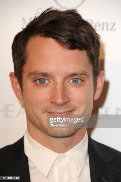 Actor Elijah Wood arrives at The Art of Elysium's 7th Annual HEAVEN Gala presented by MercedesBenz at Skirball Cultural Center on January 11 2014 in...