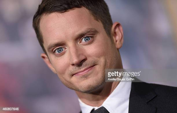 Actor Elijah Wood arrives at the Los Angeles premiere of 'The Hobbit: The Battle Of The Five Armies' at Dolby Theatre on December 9, 2014 in...